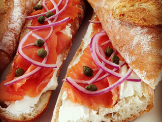Weekend Brunch: Smoked Salmon on French Baguette