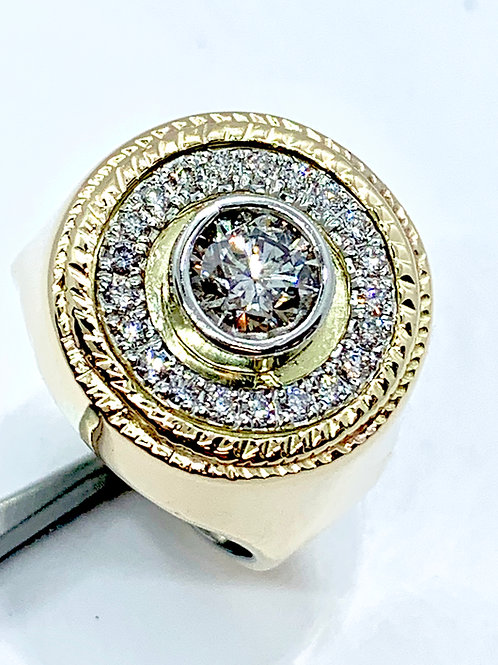 Custom made man's diamond ring