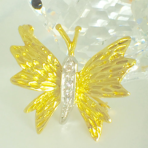 PRE-OWNED TIFFANY BUTTERFLY 18K AND PLATINUM BROOCH