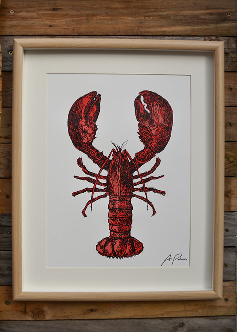 Lobster Screen Print