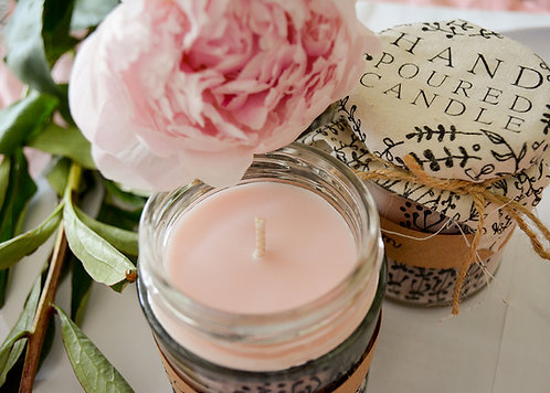 'Peony in Bloom' Hand Poured Candle