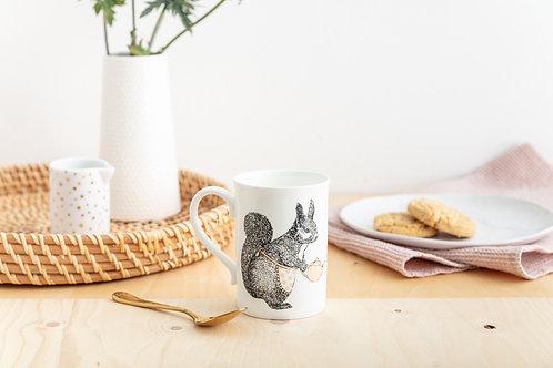Tea Time Squirrel Bone China Mug