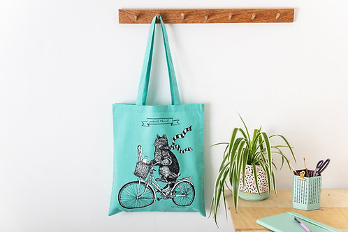'Pascal The Cat' Screen-Printed Shopping Bag