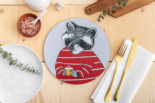 Cake Loving Raccoon Placemat