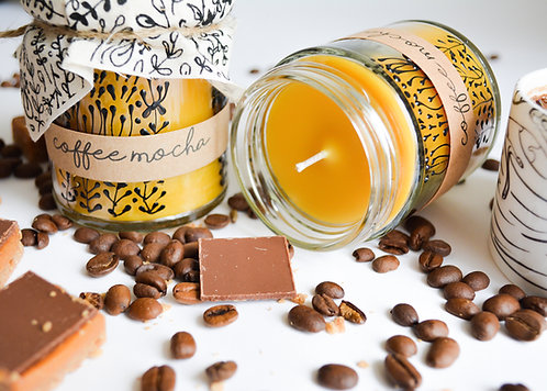 'Coffee Mocha' Hand Poured Candle