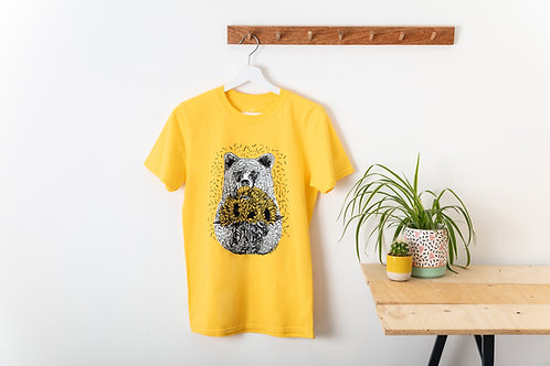 'Bear with Sunflowers'T-Shirt