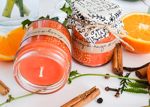'Cranberry, Orange & Cinnamon' Hand Poured Candle