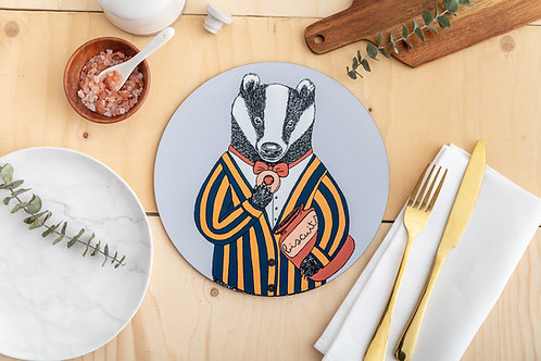 Mr Badger Loves Biscuits Placemat