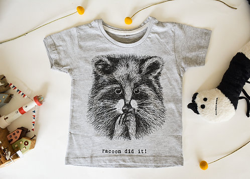 Cute Racoon Kids T-Shirt