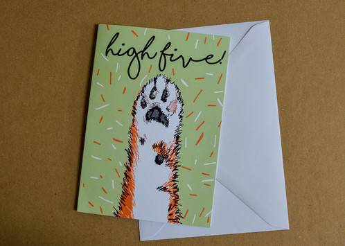 High five cat paw greeting a6 card high five cat paw greeting a6 card m4hsunfo