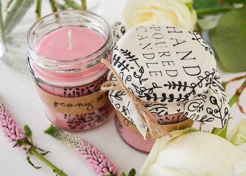 'Peony & Bergamot' Hand Poured Candle