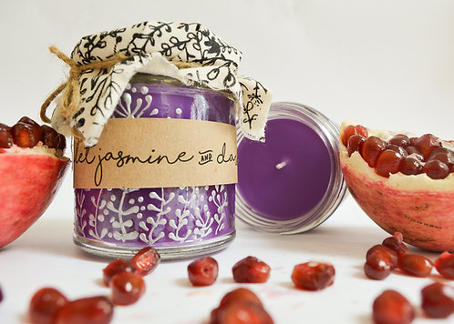 'Violet Jasmine & Dark Fruits' Hand Poured Candle