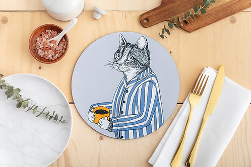 Coffee Lover Cat Placemat