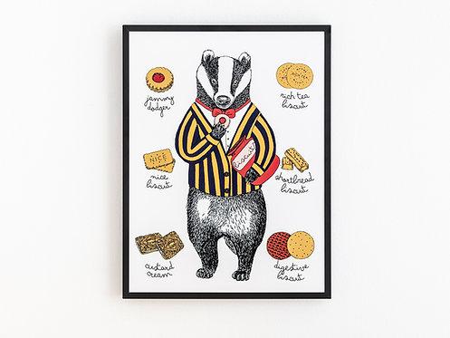 Mr Badger Print