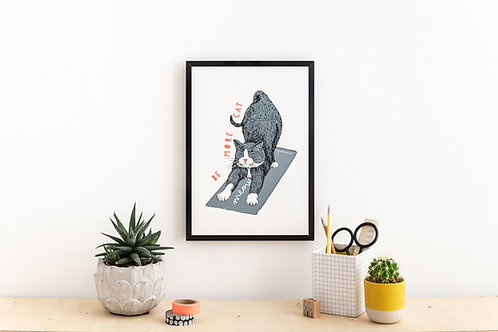 'Be More Cat' Screen Print