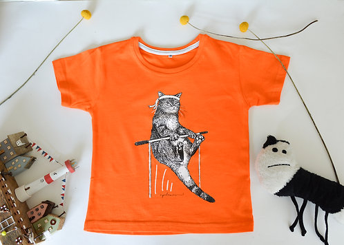 'Bruce the Karate Cat' Kids T-Shirt