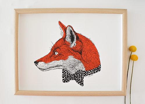 Mr Fox Screen Print