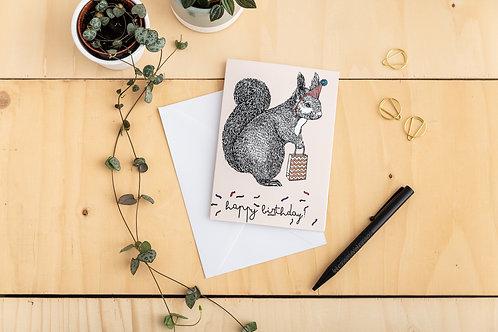 Birthday Squirrel Card