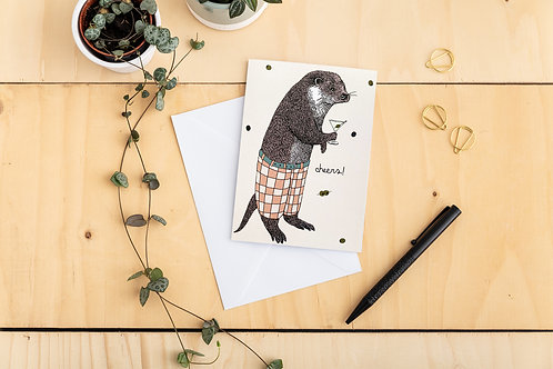 Cheers! Mr Otter Card