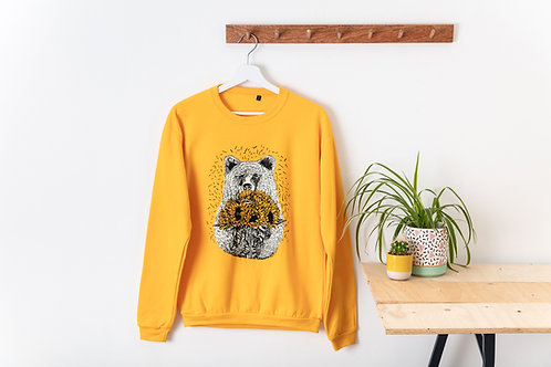 Bear with Sunflowers Sweatshirt