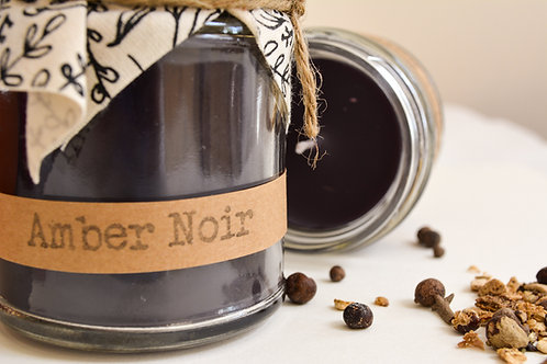 'Amber Noir' Hand Poured Candle