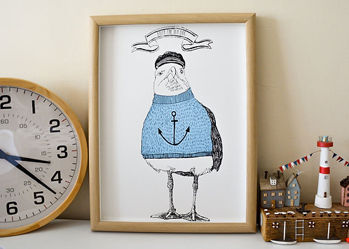 'Billy The Sea Dog' Print