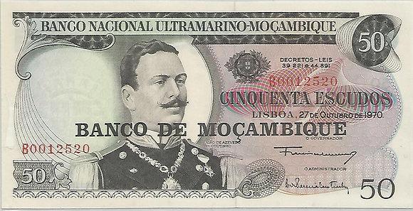 Moçambique MBBN0500042520 50 Escudos 1970
