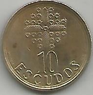 Portugal PT01161997 10 Escudos 1997