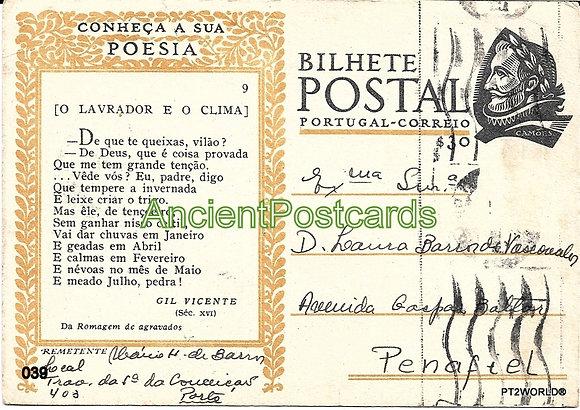 Bilhete Postal PT039/49 - Conheça a sua Poesia