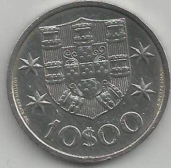 Portugal PT01011971 10 Escudos 1971