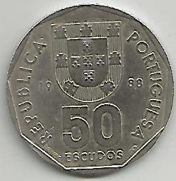 Portugal PT5021988 50 Escudos 1988