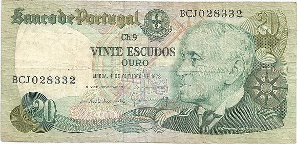 Portugal PTBN200268332 20 Escudos 1978