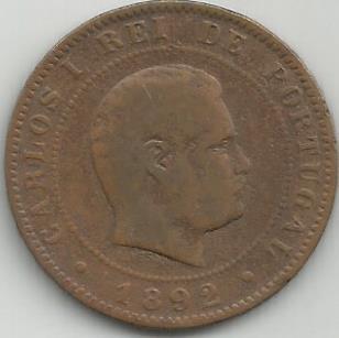 Portugal PT0X1031892 X Reis 1892