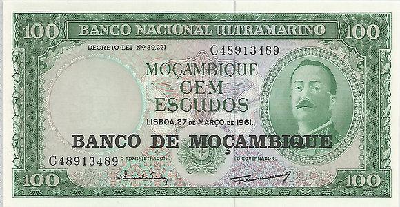 Moçambique MBBN0100083489 100 Escudos 1961
