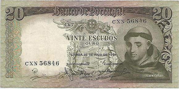 Portugal PTBN20.028.6846 20 Escudos 1964