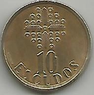 Portugal PT01101991 10 Escudos 1991