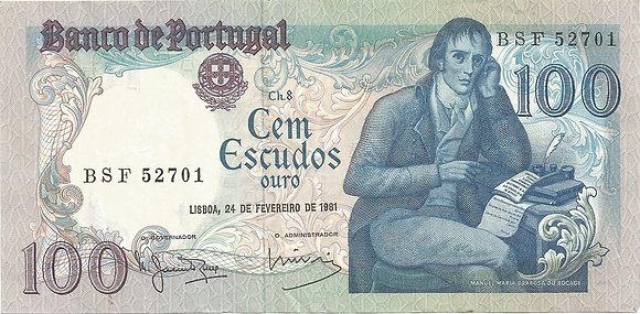 Portugal PTBN100.012.2701 100 Escudos 1981