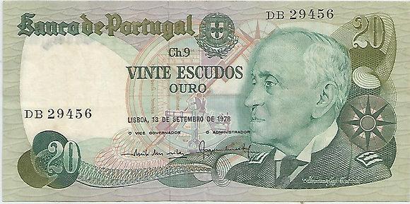 Portugal PTBN20.064.9456 20 Escudos 1978