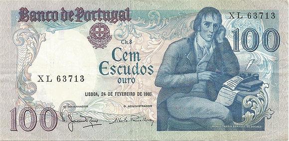 Portugal PTBN100.015.3713 100 Escudos 1981