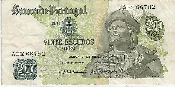 Portugal PTBN20.044.6782 20 Escudos 1971