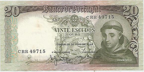 Portugal PTBN20.036.9715 20 Escudos 1964