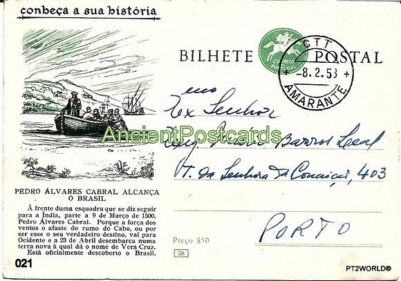 Bilhete Postal PT021/58 - Conheça a sua Historio