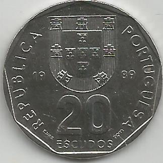 Portugal PT02031989 20 Escudos 1989