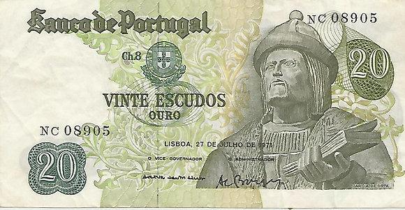 Portugal PTBN20.052.8905 20 Escudos 1971