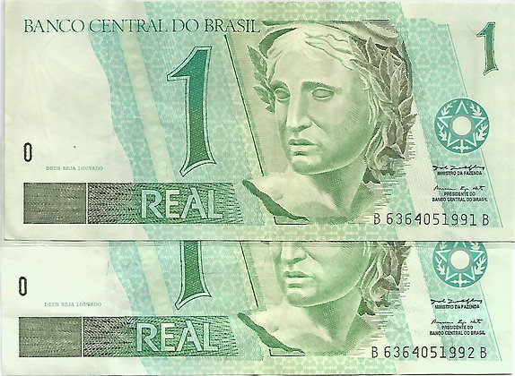 Brasil BankNotes BRBN0054051991/2 1 Real