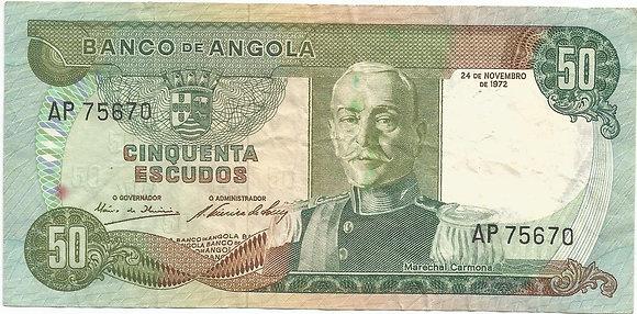 Angola  ANBN0500065670 50 Escudos 1972