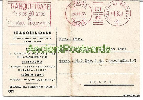 Bilhete Postal PT001/56 -Tranquilidade Companhia de Seguros
