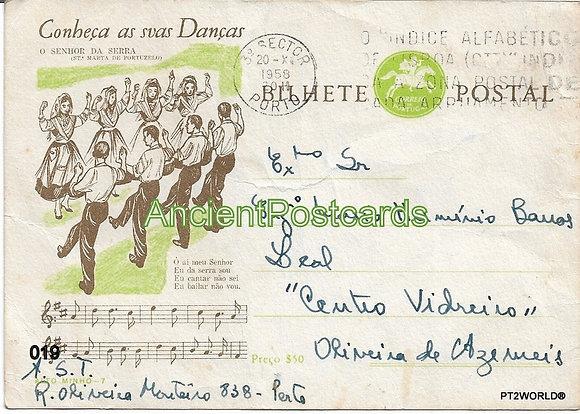 Bilhete Postal PT019/58 - Conheça as suas Danças