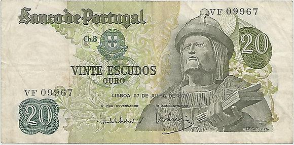 Portugal PTBN20.055.9967 20 Escudos 1971