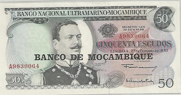 Moçambique MBBN0500010064 50 Escudos 1970